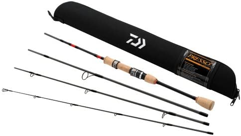 Daiwa PSO604ULFS-TR Presso Ultralight Pack Spinning Rod, 6 Length, 4Piece Rod, Ultralight Power, Fast Action