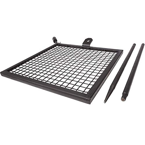 table Campfire Swivel Grill HD Wire Cooking Grate Spike Pole ()