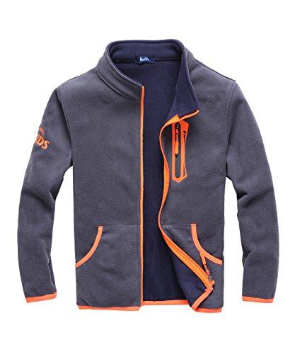 M2C Boys Soft and Cozy Full Zip Polar Fleece Jacket Light Grey ()