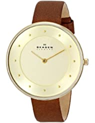Skagen Womens SKW2138 Gitte Saddle Leather Watch