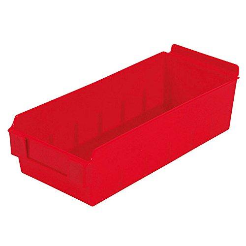 Retail Red Shelfbox Style 300 measures 13.18''d x 5.51''w x 3.74''h by Shelfbox