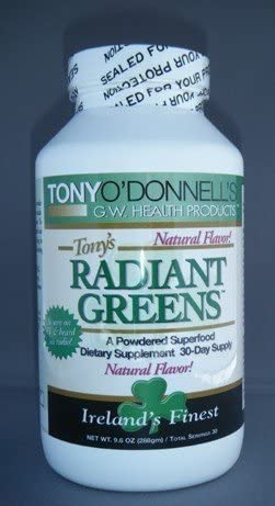Radiant Greens Natural by Tony O Donnell – 9.6 oz 30 Servings