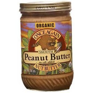 Once Again Organic No Salt Creamy Peanut Butter, 16 Ounce - 12 per case. by Once Again Nut Butter