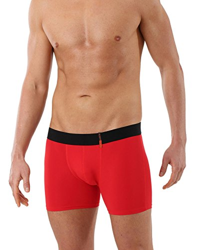 ALBERT KREUZ Men's Slimfit Boxer Brief Made Of Soft and Breathable Microfiber Red - Hills Short Macy's