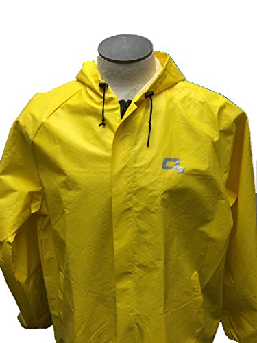 O2 Rainwear Men's Element Series Hooded Jacket, Yellow, Small O2 Rainwear
