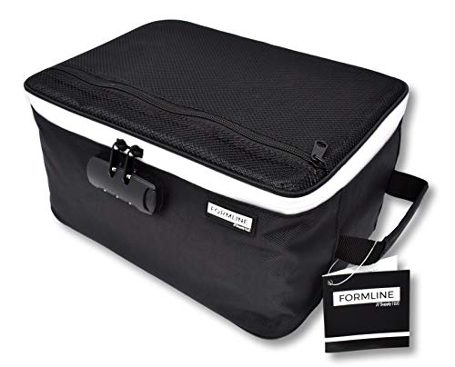 Extra Large Smell Proof Case with Combination Lock (12″ x 9″ x 6″) – Premium Odor Proof Bag and Container Designed to Store and Preserve All Your Accessories(Black, Extra Large)