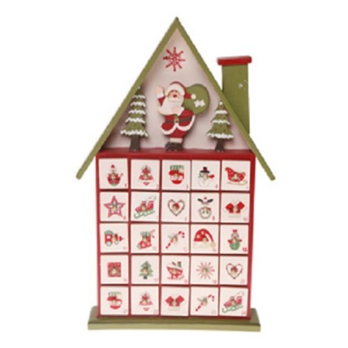 Santas Multicoloured Advent Calendar House RJB
