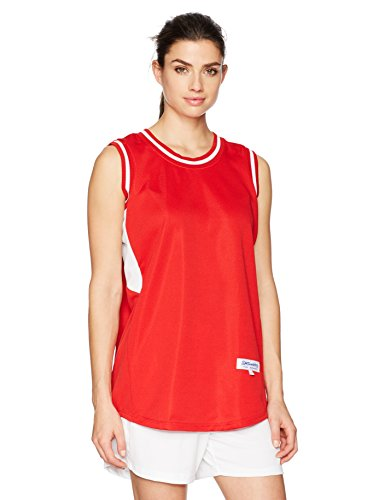 Intensity Womens Flatback Mesh Basketball Jersey, Scarlet/White, Medium (Womens Jersey Shirt Basketball)