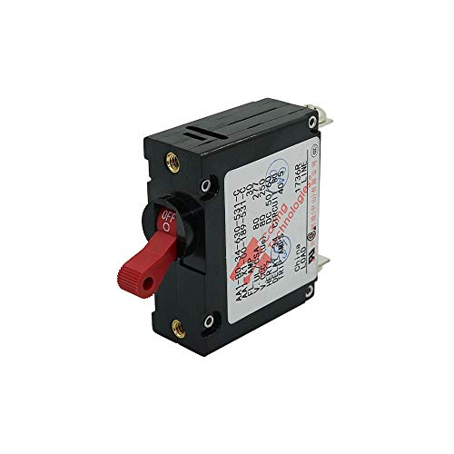 Mount Single Circuit - Ocean River AC/DC Toggle Circuit Breaker Single Pole Panel Mount 30Amp Red Switch