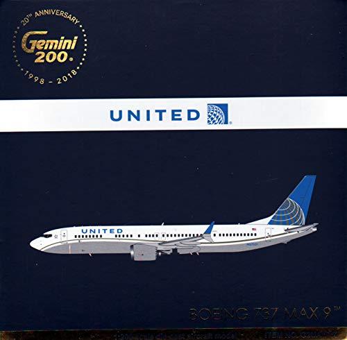 GeminiJets G2UAL752 United B737 Max8 N67501 / GEMG20752 1:200 Gemini Jets United Airlines Boeing 737 Max 9 Reg #N67501 (pre-Painted/pre-Built) ()
