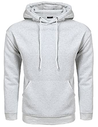 Hasuit - Sudadera con capucha - para hombre gris gris S