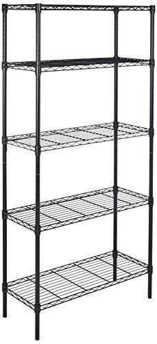 Amazon.com: AmazonBasics 5-Shelf Shelving Unit - Black: Home & Kitchen