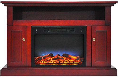 Cambridge CAM5021-2CHRLED Sorrento Electric Fireplace with Multi-Color LED Insert and 47 In. Entertainment Stand in - Shopping Center Cambridge