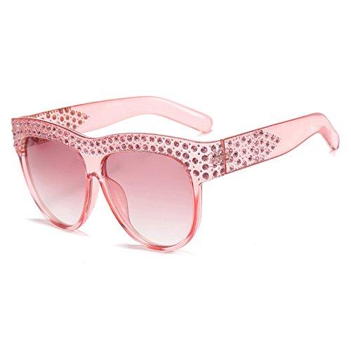 E Sol de Flat Marca Sol D Tonos Designer Lujo Vintage Gafas de Top Diamond Aviador Gafas Señoras Sobredimensionado Gafas Mujer Burenqi de 4txRw7Sq