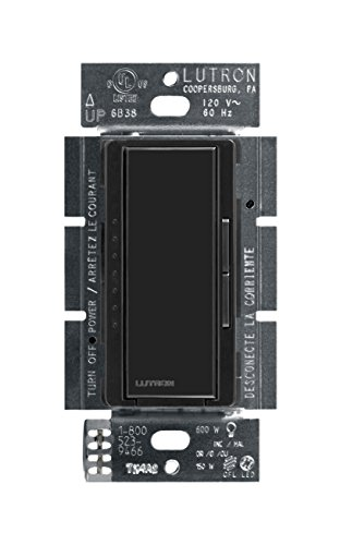 Lutron Maestro C.L Dimmer Switch for Dimmable LED, Halogen & Incandescent Bulbs, Single-Pole or Multi-Location, MACL-153M-BL, (Black Dimmer)