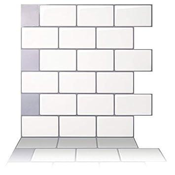 Amazoncom Tic Tac Tiles Premium Anti Mold Peel And Stick Wall