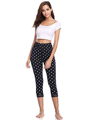 Court Bleu Décontracté Abollria Classique Dentelle Amincissant Marine Pantalon Leggings Haute 4 Chic 3 56w6pPq