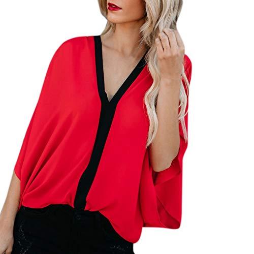 LUNIWEI New T-Shirt for Women Summer Tops Vest Popular Patchwork Tee Blouse Shirt 2019 ()