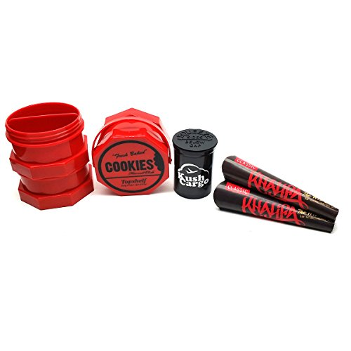 Red Cookies SF Jar + Wiz Khalifa x RAW Cones (2) Packs + KC Pop Top