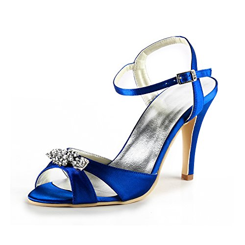 Minitoo , Damen Pumps Blue-10cm Heel
