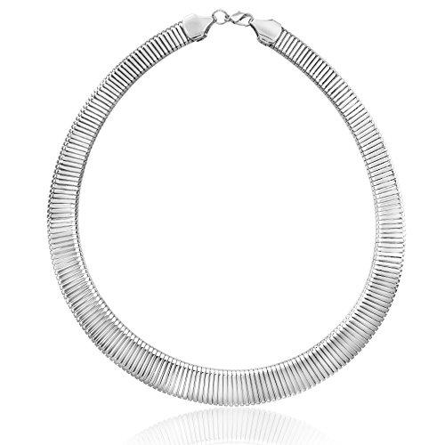 Ribbed U-Shaped Collar Necklace