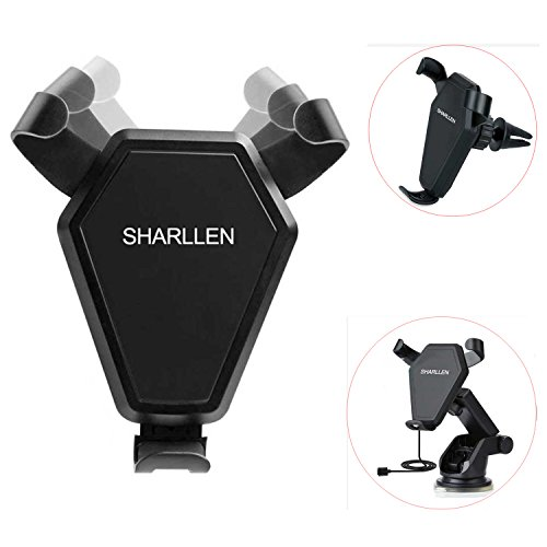 Wireless Car Charger, SHARLLEN Fast Charging Car Mount Air Vent Compatible for Samsung Galaxy S9,S8, S7,S6/S7 Edge, Note 8/5, Standard Charge for iPhone Xs/MAX/XR/X/8/8 Plus& Qi Enabled Devices