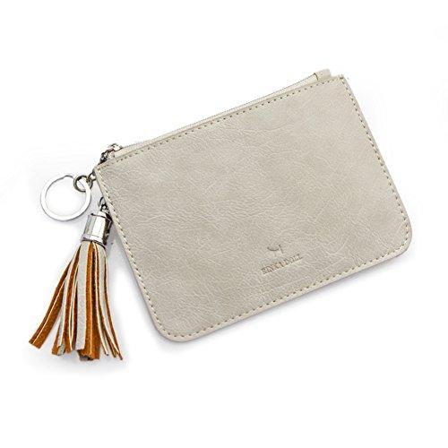 cartera de damas/Bolsa zip delgado corto/Bolso de la moneda/Bolsa de clave-B D
