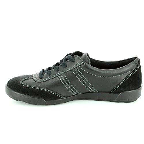 Ecco Crisp II Damen Sneakers Black Suede/Leather