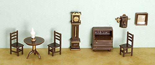 Dollhouse Miniature 1/4 inch Scale Living Room Set