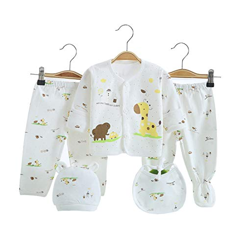 5PCS Newborn Girl Boy Clothes Unisex Photography Outfits Baby Gifts Layette Sets Yellow