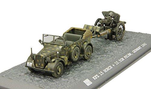1/72 ホルヒ Kfz15 中型軍用車&10.5cm FH18M 軽榴弾砲 ドイツ陸軍 TK0050