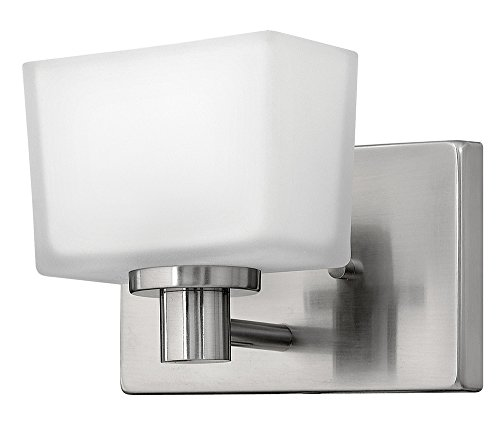 - Hinkley 5020BN Transitional One Light Bath from Taylor collection in Pwt, Nckl, B/S, Slvr.finish,