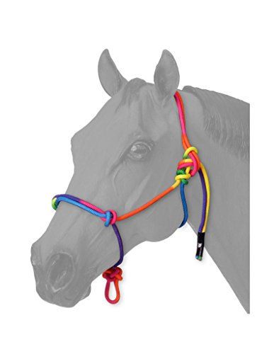 Tough 1 Tough-1 Multi-Colored Miniature Rope Halter, - Miniature 1 Tough