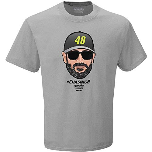 (Checkered Flag 2019 NASCAR Driver Emoji T-Shirt-Jimmie Johnson)