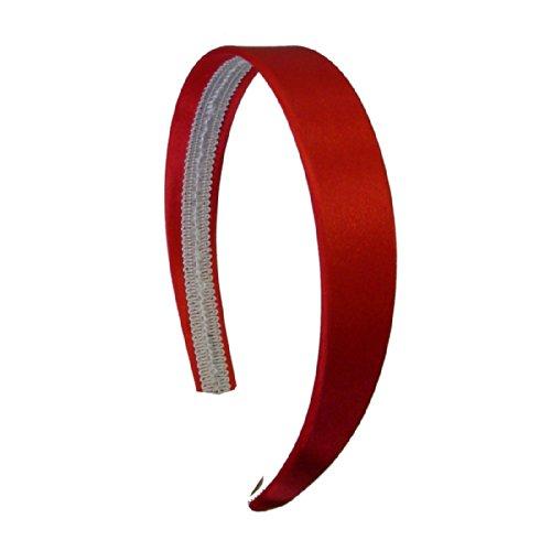 Red 1 Inch Satin Hard Headband