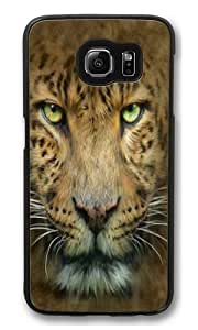Big Face Leopard PC Case Cover for Samsung S6 and Samsung Galaxy S6 Black by kobestar