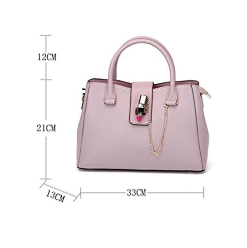 Shopping Noir Diagonale Bandoulière WKNBEU Sac Sac Main Voyage Femmes Cuir Rose Grands Sacs Pink en à à Mode qUBUa7xnE