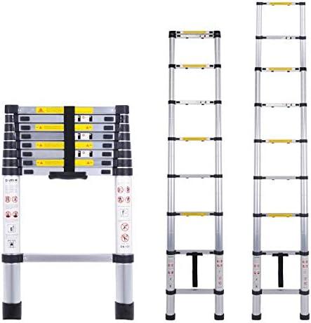 pliable portative Myifan /Échelle t/élescopique polyvalente en aluminium conforme aux normes CE et EN131