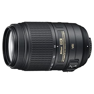 Nikon AF-S DX NIKKOR 55-300mm f/4.5-5.6G ED Vibration Reduction Zoom Lens with Auto Focus for Nikon DSLR Cameras