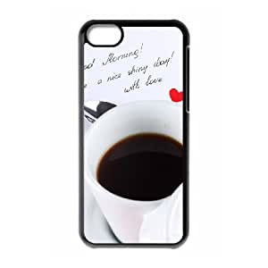 Iphone 5C 2D DIY Hard Back Durable Phone Case with Gourmet coffee Image