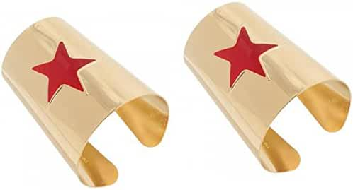 Dc Comics Wonder Woman Star Cuffs- Set Of 2