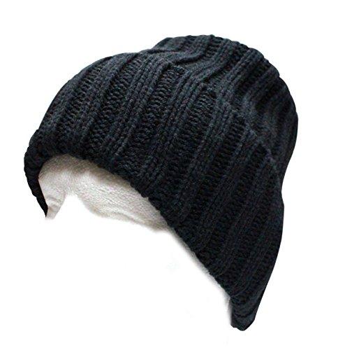 City Hunter Ck1080 Solid Knit Beanie Hat - Black