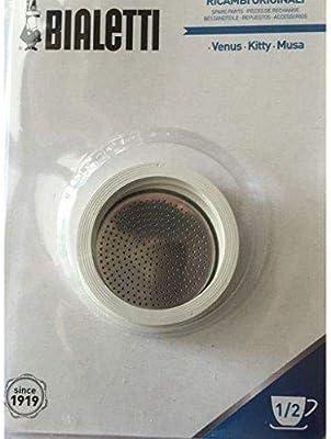 Bialetti - 3 juntas y 1 filtro para cafetera Kitty/Venus 1-2 TZ ...