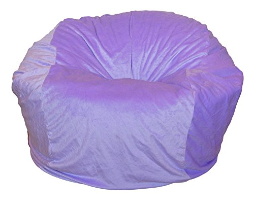 Ahh! Products Cuddle Minky Lavender Washable Large Bean Bag Chair For Sale
