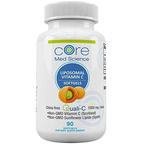 Optimized Liposomal Vitamin C SOFTGELS 1000mg/dose -30 Servings - 90 softgels - China-Free Quali®-C Scottish Ascorbic Acid - High Absorption Immunity & Collagen Booster Supplement - Non-GMO, Non- Soy