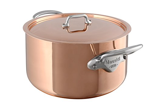 Mauviel Made In France M'Heritage Copper M150S 6131.25 Copper 6-2/5-Quart Covered Stew Pan, Cast Stainless Steel Handles. (Mauviel Dutch Oven compare prices)