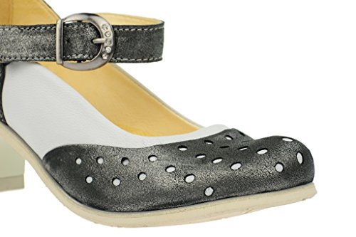 Gray GREY heel Boots Pump strap wedge Silver Eject Unusual White Cowbel Grey PvqxxFZ