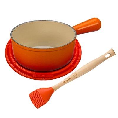 Le Creuset MM1603-2 BBQ Sauce Set, 1 1/8 qt, Flame