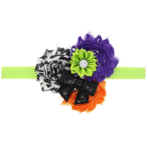 soAR9opeoF Headband Handmade Baby Girls Sunflower Bowknot Hairband Headband Halloween Hair Decor - -