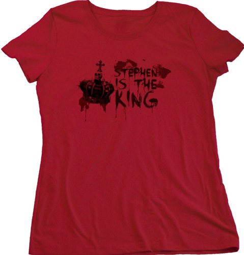 Ann Arbor T-shirt Co. Women's Stephen is the King Cut Horror Book Fan T-Shirt